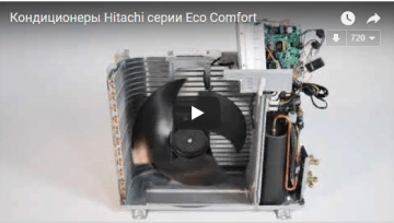 Видео Hitachi серии Eco Сomfort